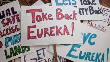 Take Back Eureka organized a protest of the needle exchange